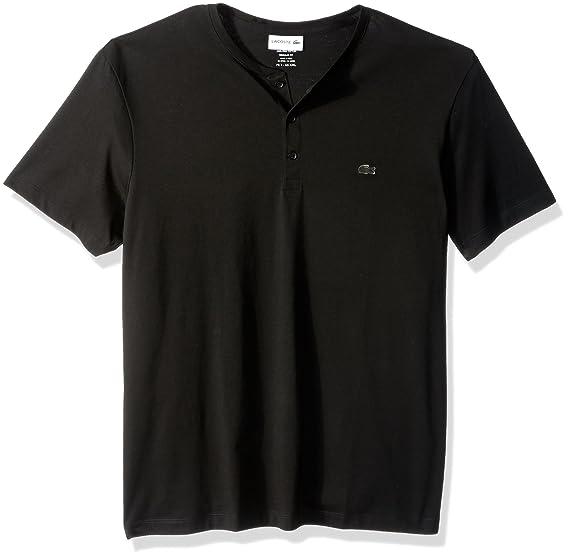 5eb3e1d1 Lacoste Men's Short Sleeve Henley Jersey Pima T-Shirt