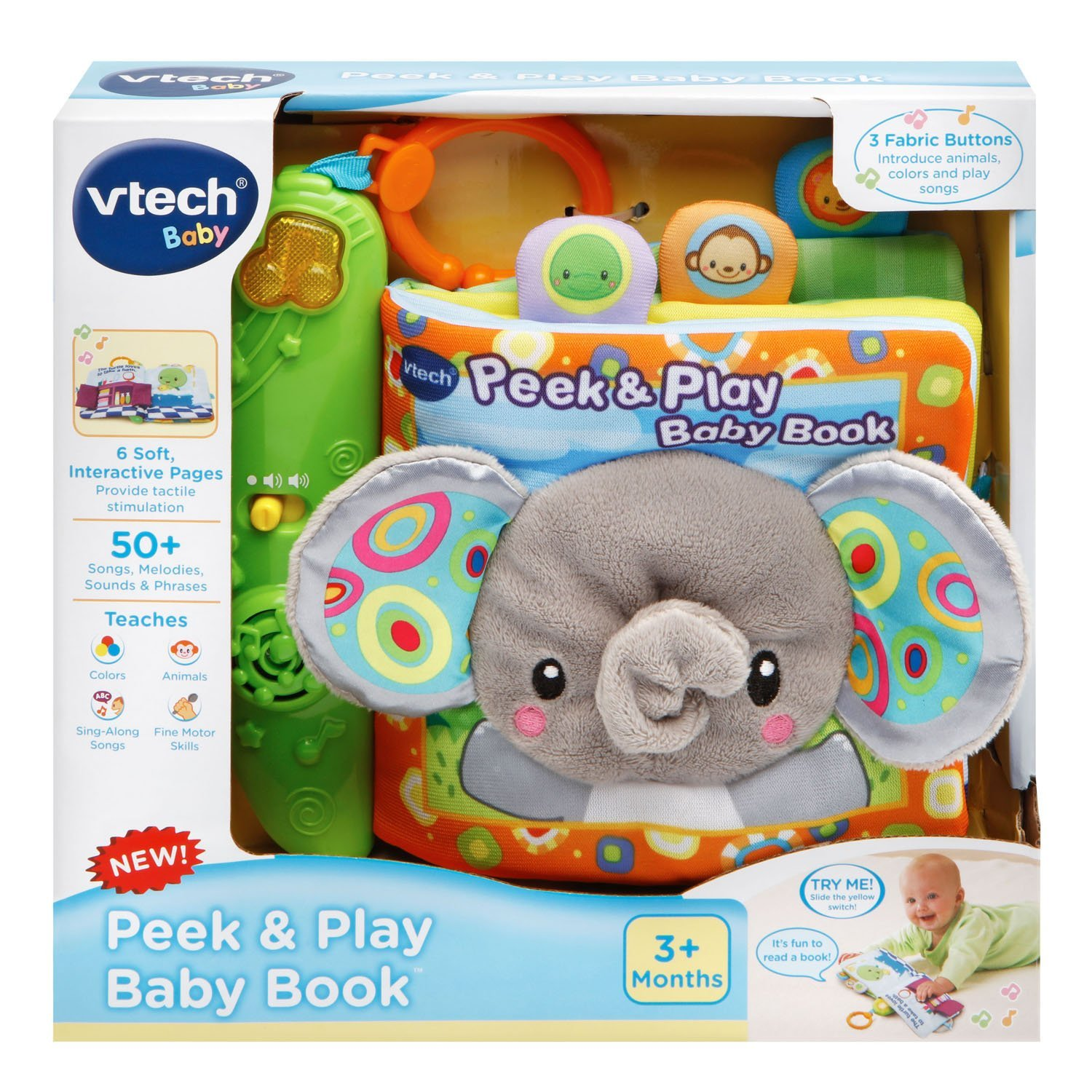 amazon com vtech baby peek and play baby book toys u0026 games