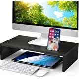 LORYERGO Monitor Stand Riser - 16.5 inch Desktop Riser for Laptop Computer, Monitor Stand Desk Organizer with Phone…