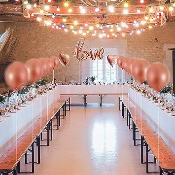 Amazon.com: Bachelorette - Juego de globos de oro rosa para ...