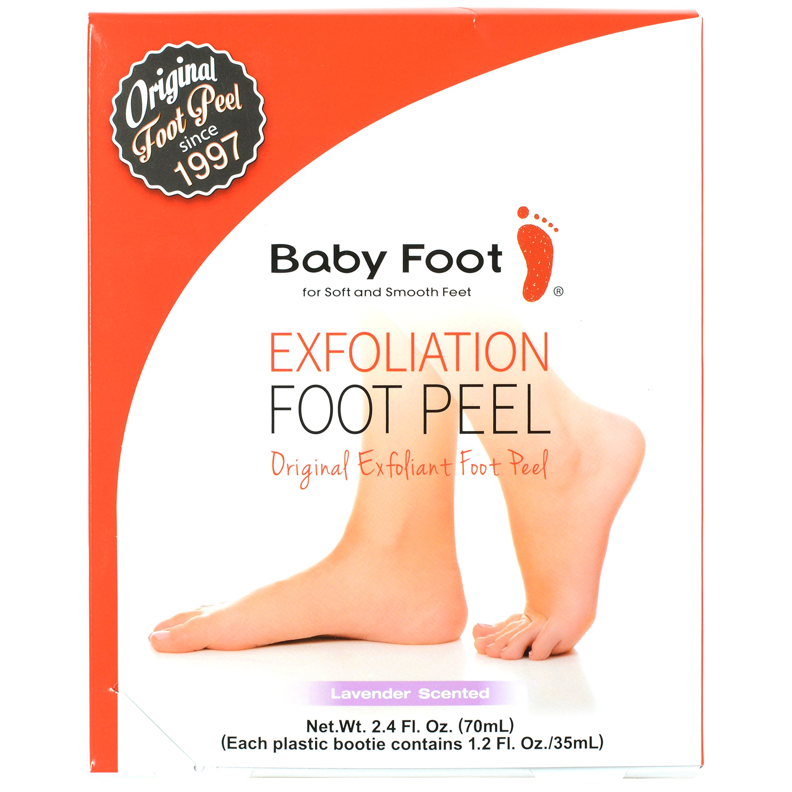 Baby Foot Exfoliant Foot Peel, Lavender Scented, 2.4 Fl. Oz.