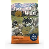 Taste of the Wild High Prairie Canine Grain-Free Recipe with Roasted Bison and Venison Dry Dog Food for Growing Puppies, Made