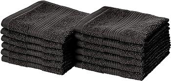 12-Pack AmazonBasics Fade-Resistant Cotton Washcloth