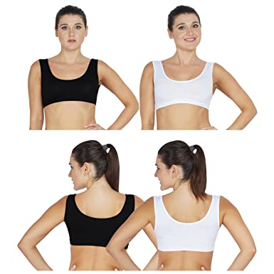 75d7ec3a6fbd9 Best Sports Bra Black-White(Pack of 2): Amazon.in: Clothing & Accessories
