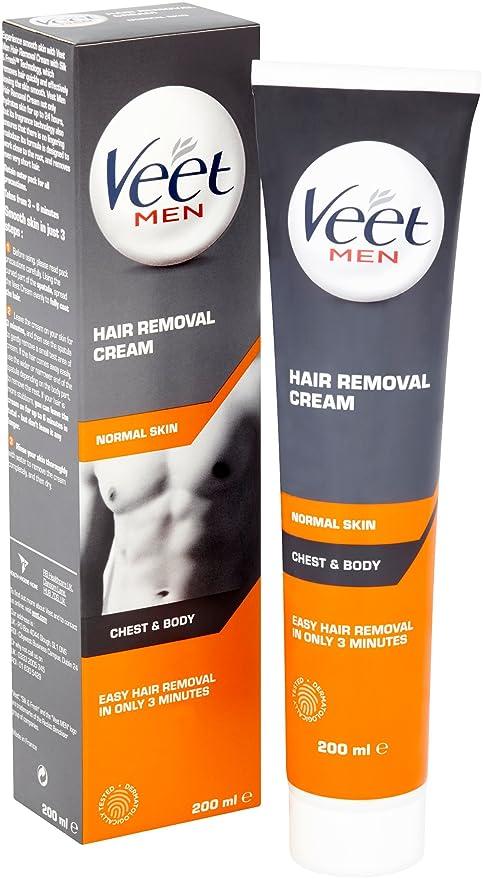 Crema depilatorio para hombres de Veet (200 ml): Amazon.es: Salud y cuidado personal