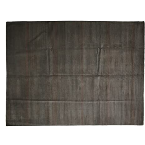 Amazon Com Area Rug Solid 9 X 12 Grey Wool Hand Knotted Rug 8