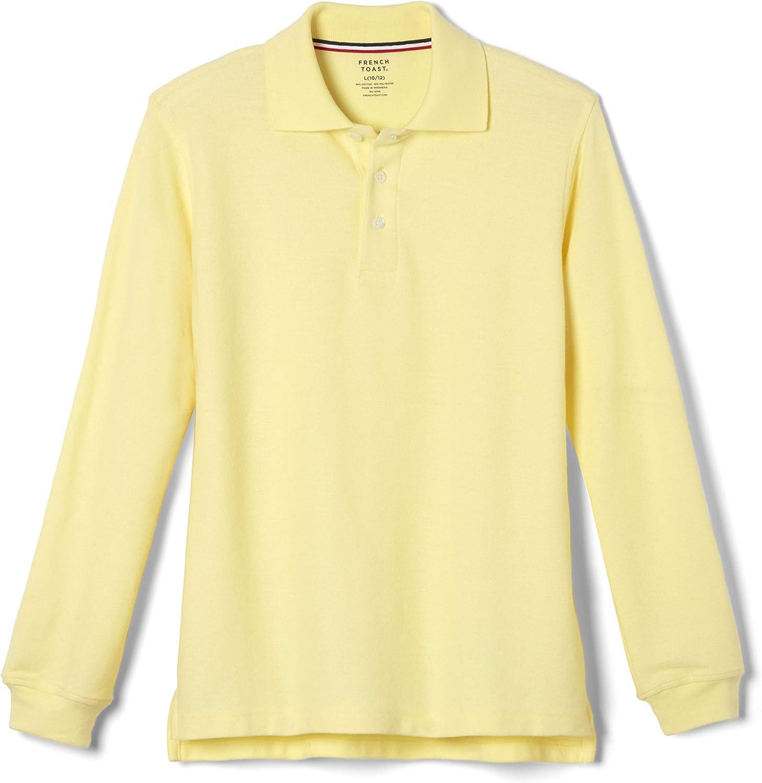 B001BZ88CU French Toast Boys' Long-Sleeve Pique Polo Shirt 81Q5H8TLGjL