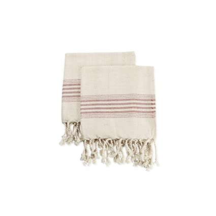 d3e2cf61bd Image Unavailable. Image not available for. Color  Ahenque Set of 2 Linen  Premium Quality Tea Towel ...
