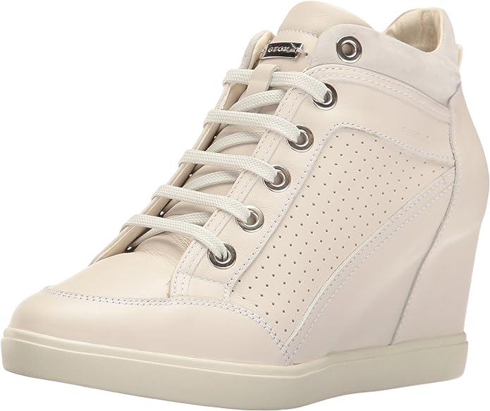 abrelatas microscópico Año  Geox D Eleni C, Baskets Hautes Femme: Amazon.fr: Chaussures et Sacs