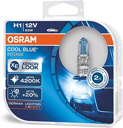 Osram Cool Blue Intense H1 Halogen Headlamp Bulb 64150cbi Hcb 4200k And 20 More Light In Double Pack Auto