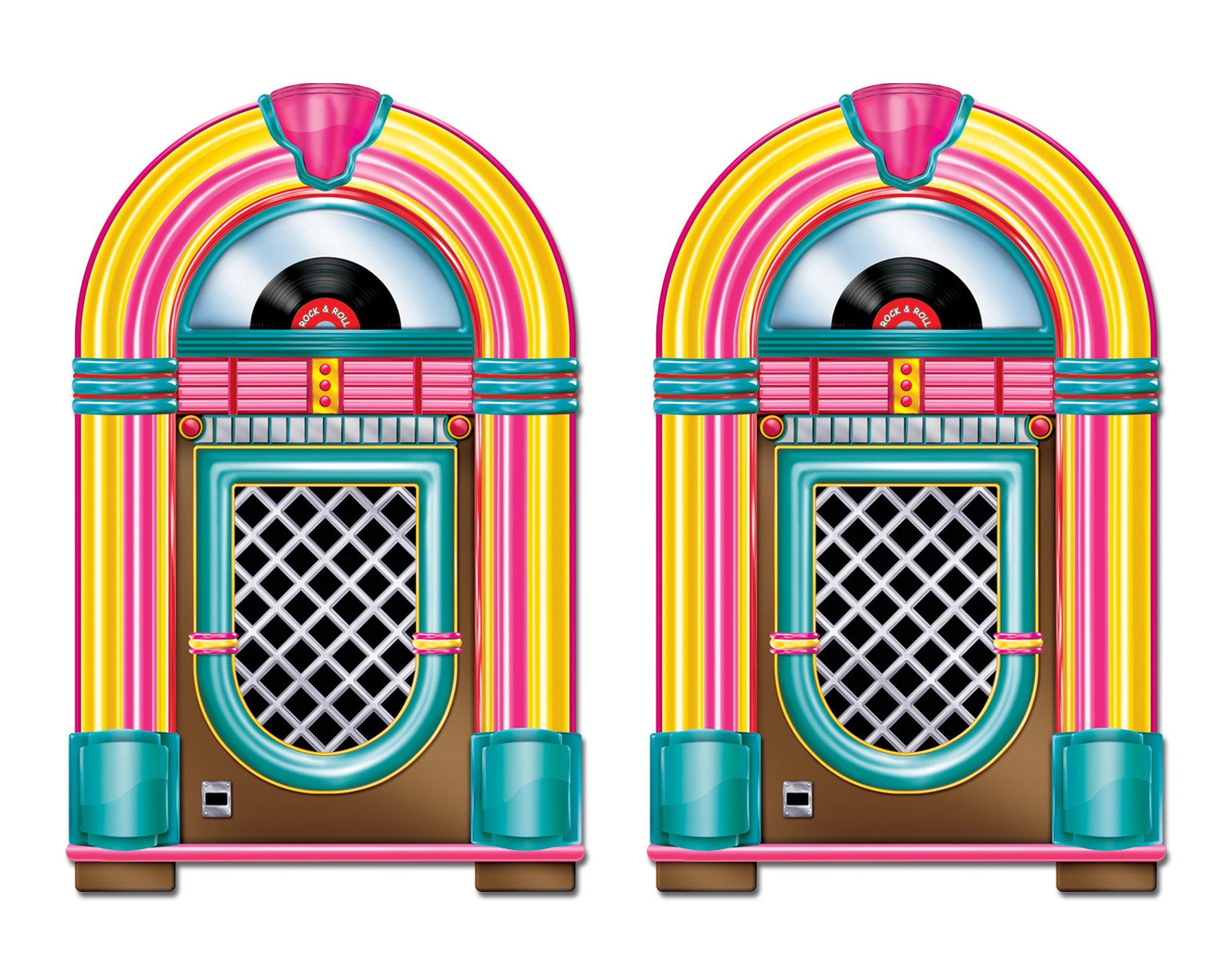Beistle S57463AZ2, 2 Piece Jukebox Cutouts, 3' by Beistle