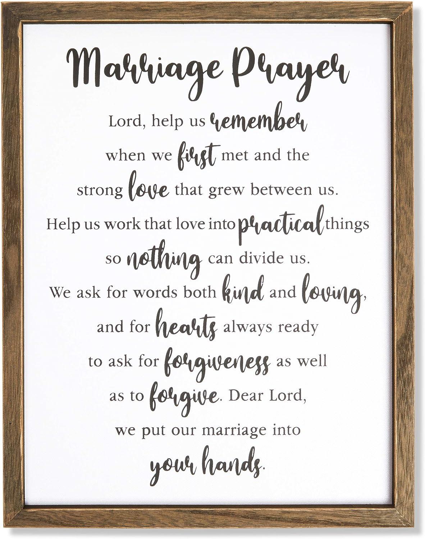 Farmlyn Creek Religious Home Decor, Marriage Prayer (11.75 x 15 Inches)