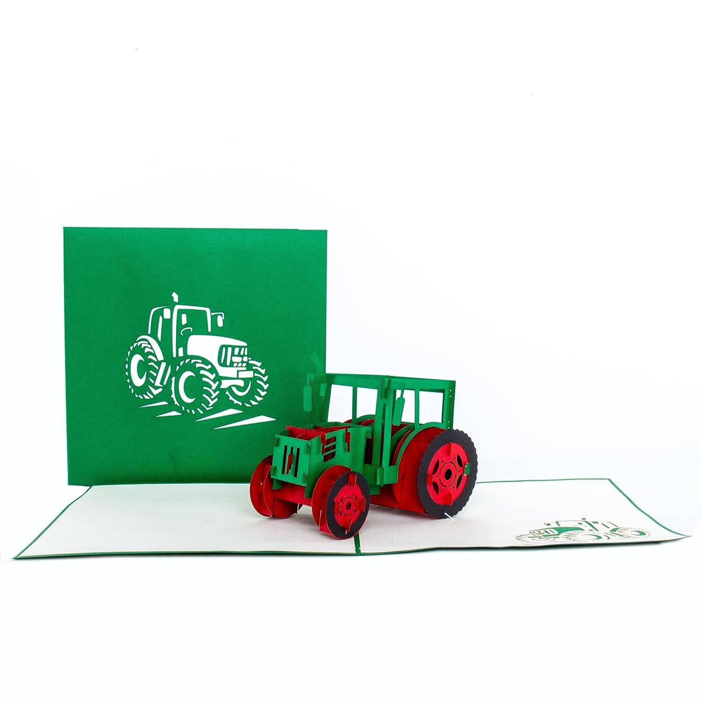 Carte Carte Carte Tracteur/ 3D pop up carte agriculture /Tracteur/ /Tracteur tracteurs