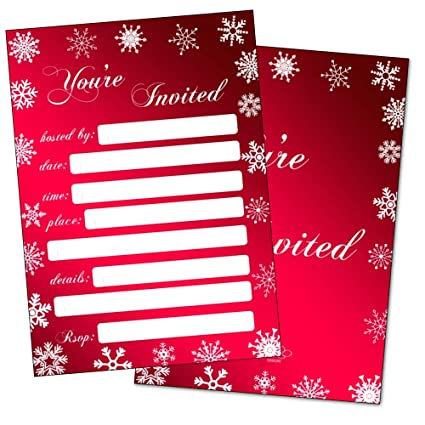 Invitaciones De Fiesta De Navidad Con Sobres Invitaciones