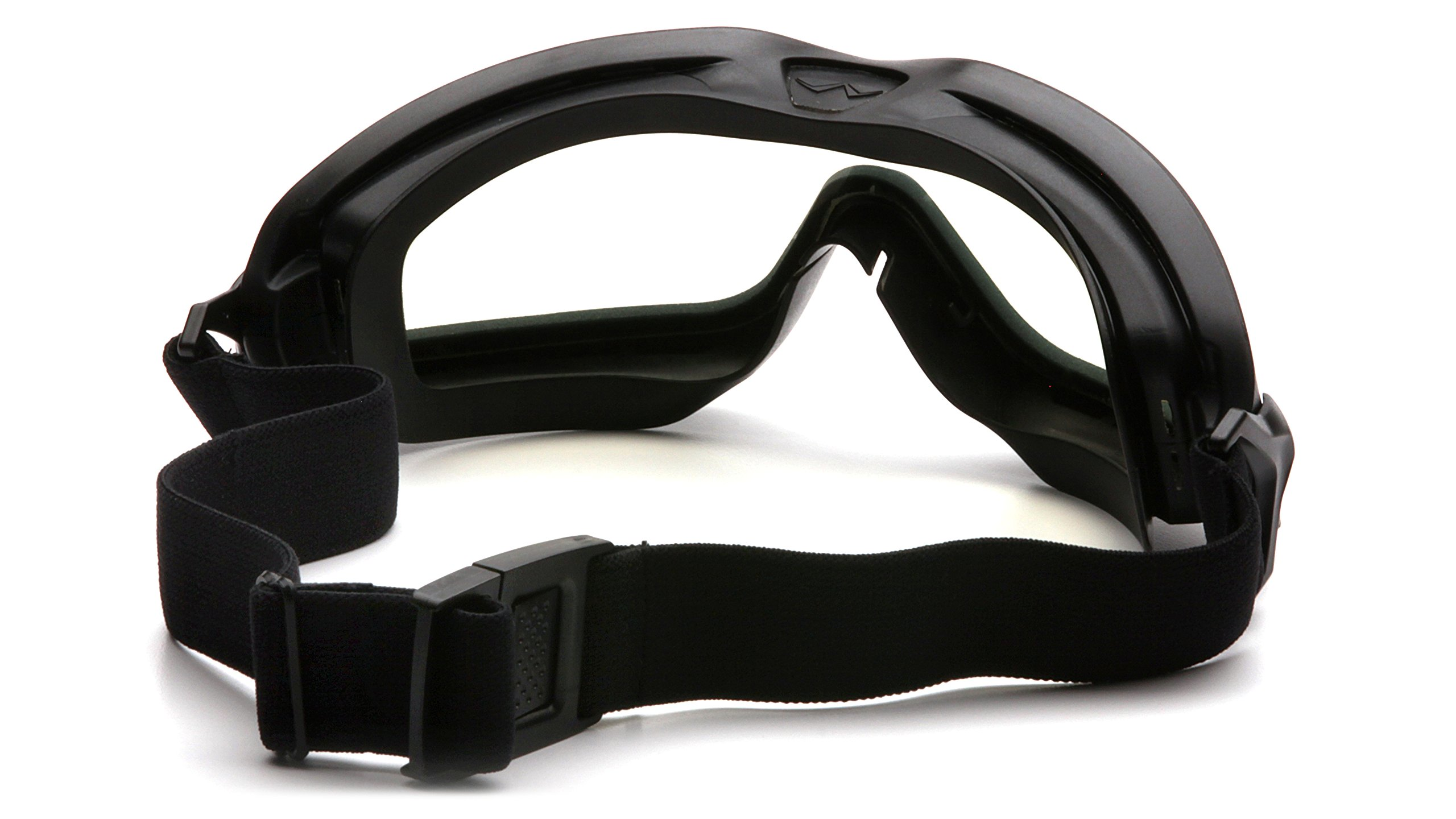 Pyramex V2G Safety Goggles with Adjustable Strap, Black Frame, Dual Clear H2X Anti-Fog Lens by Pyramex Safety (Image #3)