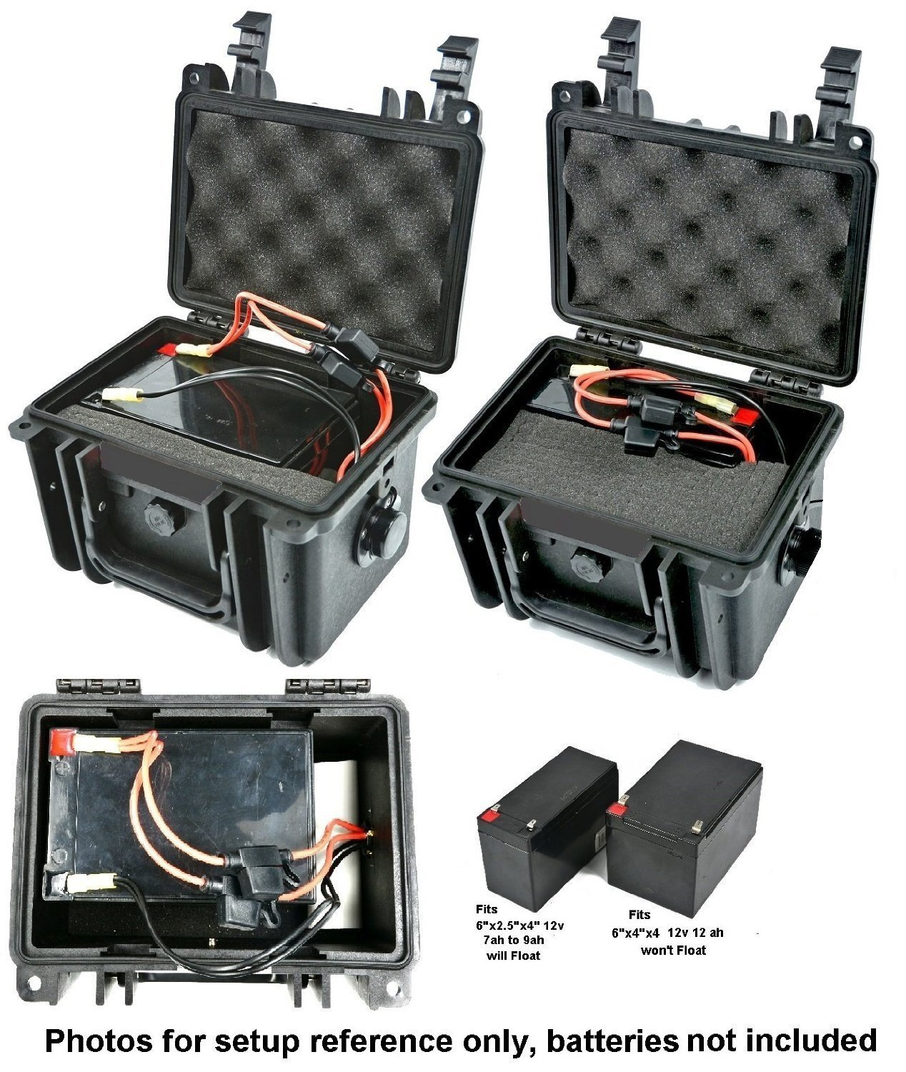 Amazon.com: Elephant K100 Custom Made Kayak Battery Box Waterproof Floating  Battery Case for Powering GPS Fish Finders Led Lights and Much More: Sports  & ...