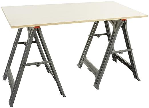 AmazonBasics - Caballete plegable - 317,5 kg - Pack de 2: Amazon.es: Bricolaje y herramientas