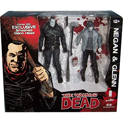 Walking Dead Negan Glenn Black & White 2 Pack Action Figure Set SDCC 2016 Skybound Exclusive: Toys & Games