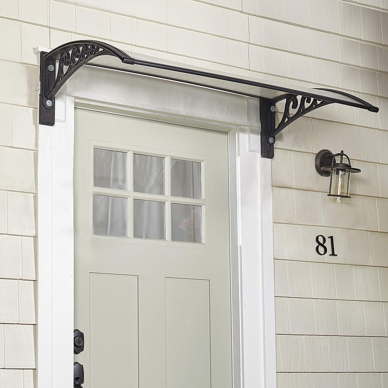 Window Door Awning Polycarbonate Door Canopy Window Awning Door Canopy for Window Door Decoration Protection