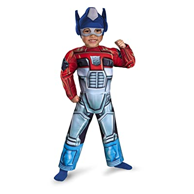 Disguise Optimus Prime Rescue Bot Toddler Muscle Costume: Toys & Games