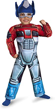 Disfraz Optimus Prime Rescue Bot Toddler Muscle Costume: Amazon.es ...