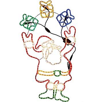 Werchristmas animated father christmas santa claus and presents rope werchristmas animated father christmas santa claus and presents rope light silhouette 114 cm large aloadofball Image collections