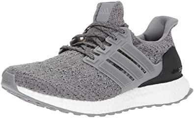 adidas Men\u0027s Ultraboost Running-Shoes, Grey Three/Grey Three/Grey Four,