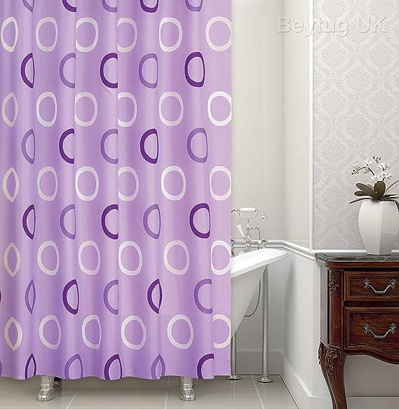 Beautiful Lilac Pattern Shower Curtain Extra Long