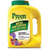 Preen 2164116 Garden Weed Preventer Plant Food, 5.625 lb. Covers 900 sq. ft