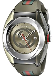 0e7dc91d3e9 Amazon.com  Gucci SYNC XXL Red Rubber Strap 46mm Unisex Watch ...