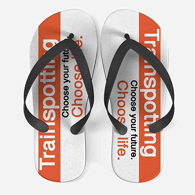 Ciabatte Infradito Trainspotting Flip Flop con grafica Cinema Film cult Movie