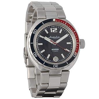 Vostok Anphibian Neptune - Reloj de Pulsera con Cuerda automática Ruso Auto #960760: Amazon.es: Relojes