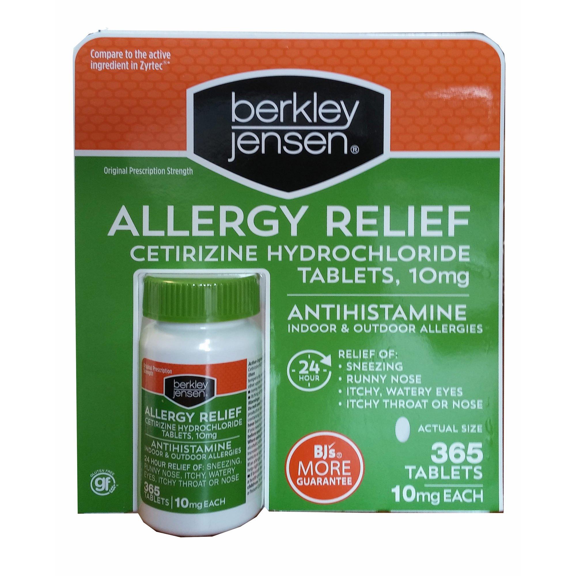 Berkley Jensen Allergy Relief, 365 ct. (pack of 6)