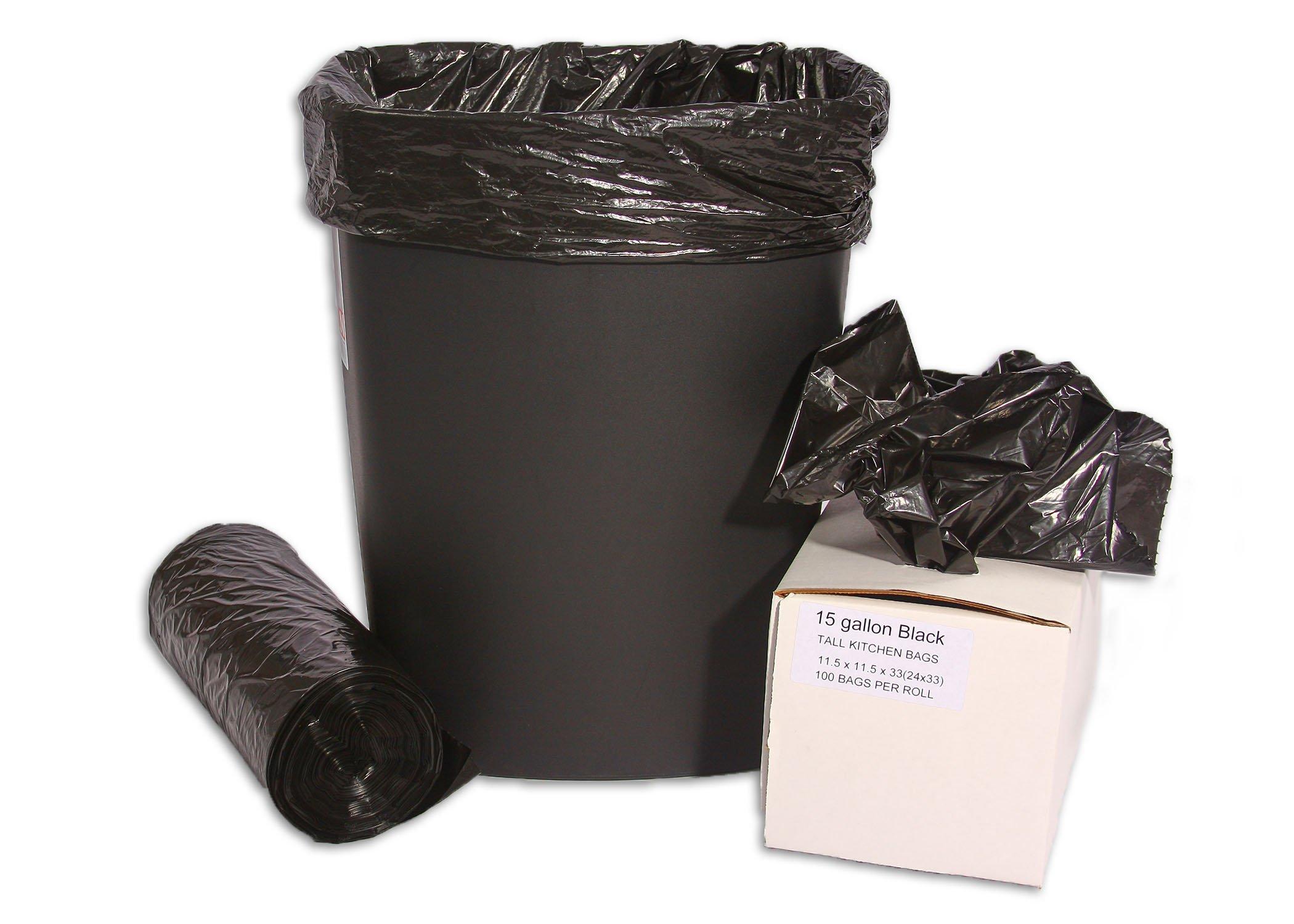 Resilia - 15 Gallon Tall Kitchen Bags (Black)