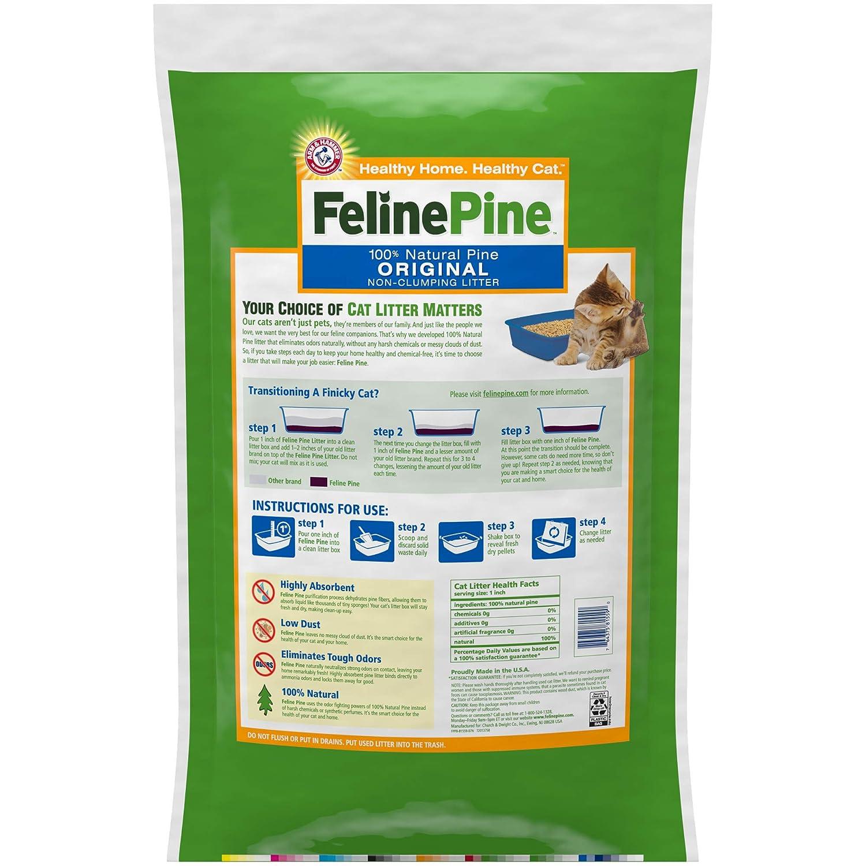 Amazon.com: Arena para gatos Feline Pine: Mascotas