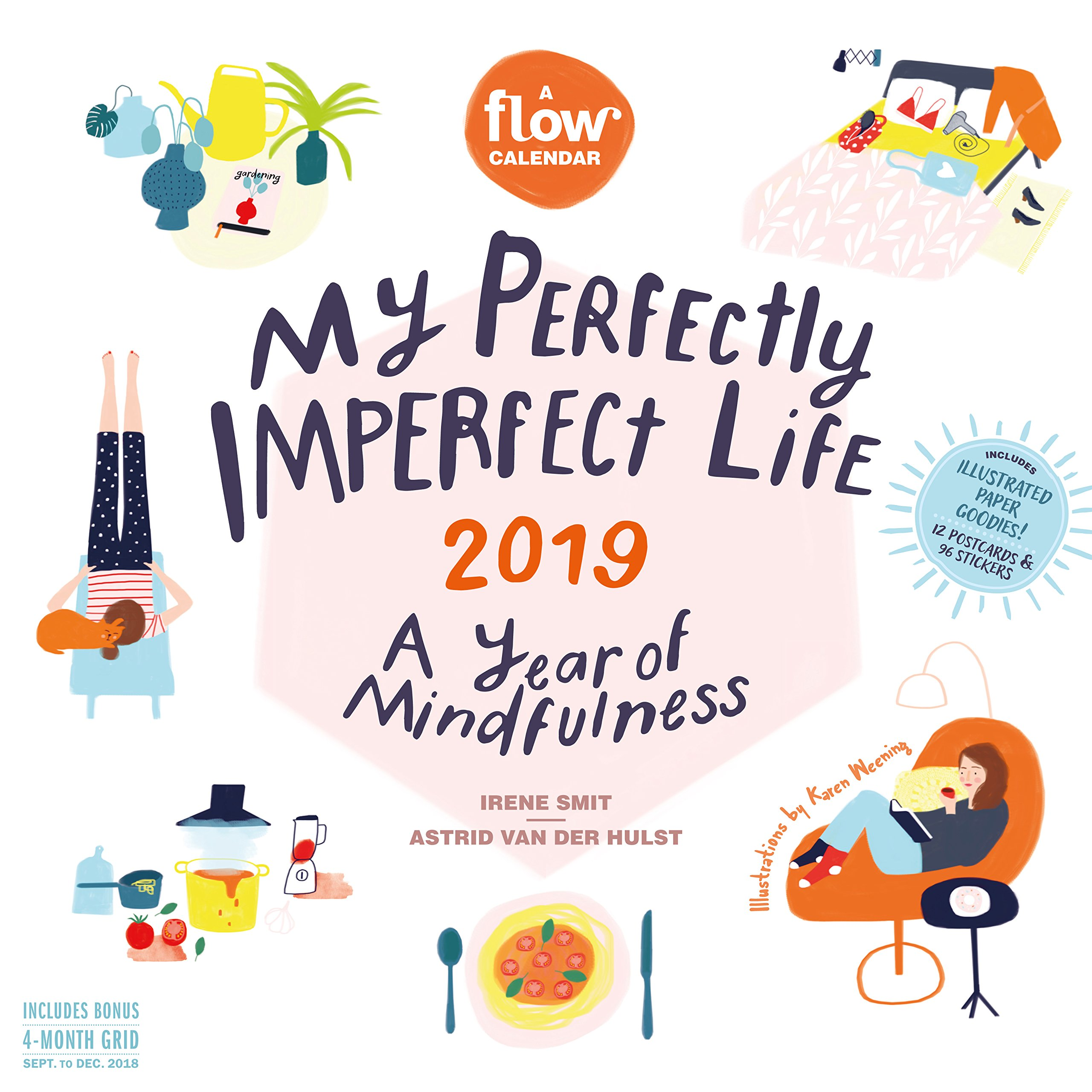My Perfectly Imperfect Life 2019 Calendar: A Year of Mindfulness: Includes 12 Postcards & 96 Stickers (Anglais) Calendrier – Calendrier mural, 8 août 2018 Workman Publishing 1523505001 BODY NON-CLASSIFIABLE