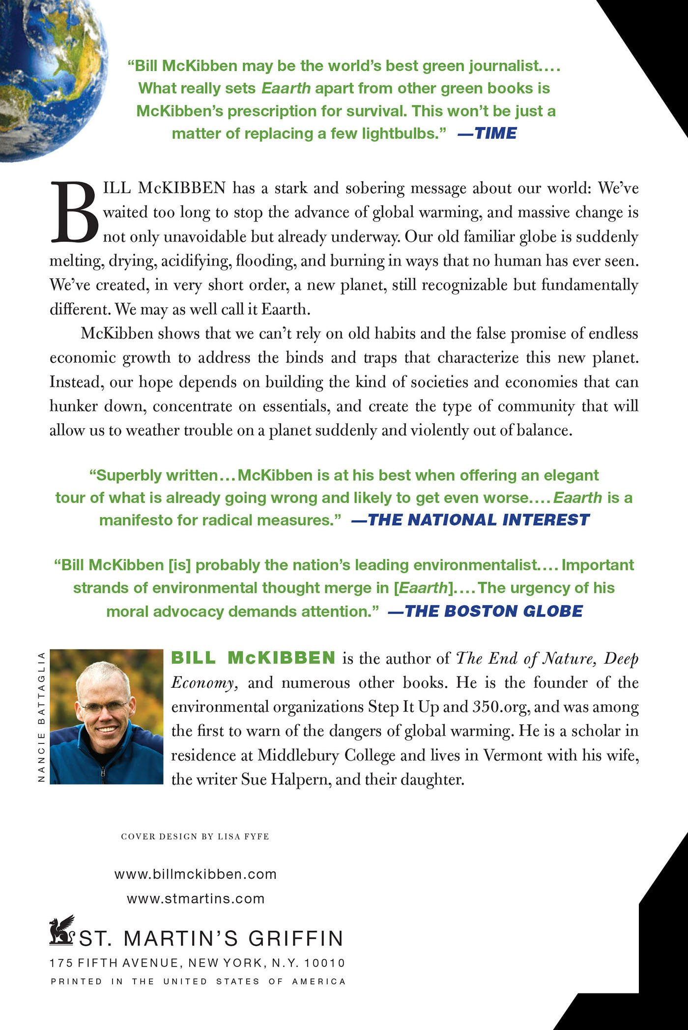 eaarth bill mckibben chapter summary