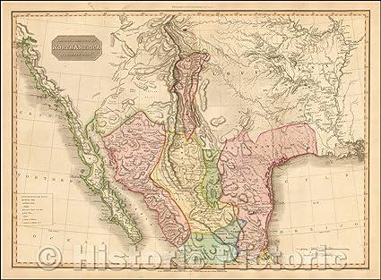 Amazon.com: Historic Map | Spanish Dominions In North ...