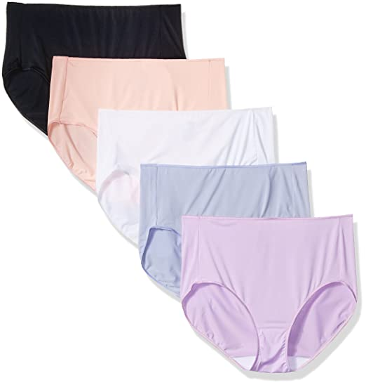 714d3e93bcbe Hanes Women's Microfiber Brief Multipack at Amazon Women's Clothing store: