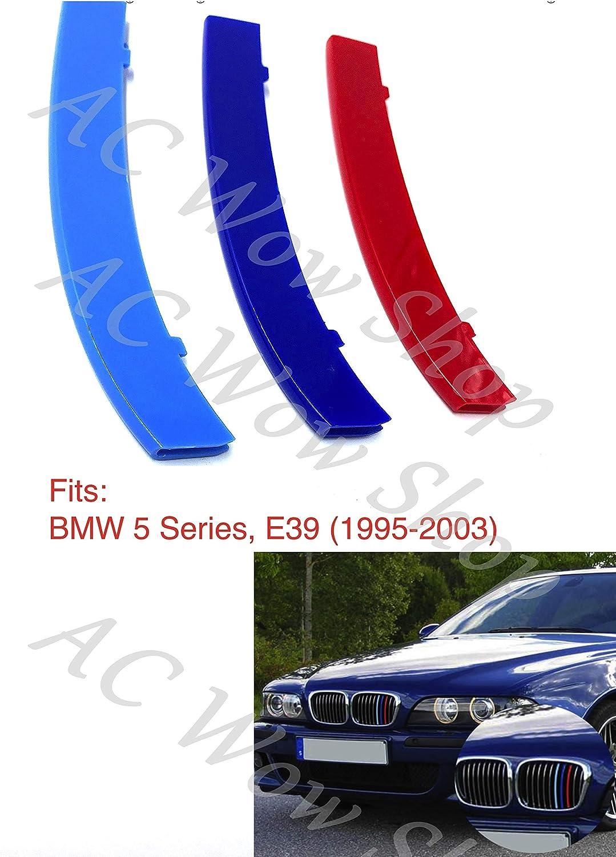 kompatibel mit B M W 5er-Reihe E39 1995-2003 Motorhaube K/ühlergrill Streifen Abdeckung M Performance Power Sport Tech Paket Abzeichen