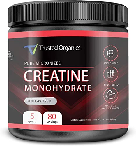 Trusted Organics Creatine Monohydrate, 1 Lb