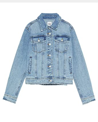 62f671bc Zara Women Basic Denim Jacket 4979/022 at Amazon Women's Coats Shop
