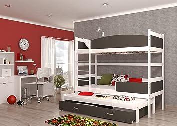 Etagenbett Grau : Etagenbett stockbett hochbett doppelbett tw farbe weiß mit