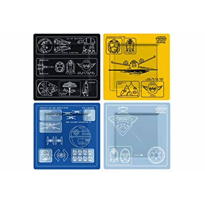 Underground Toys Star Wars Blueprints Plate Set - Officially Licensed Star Wars Kitchen Gear: Kitchen & Dining