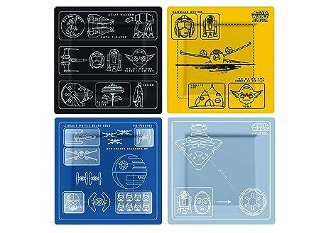 Underground Toys Platos de Naves Star Wars, 21x3x21 cm, 4 Unidades