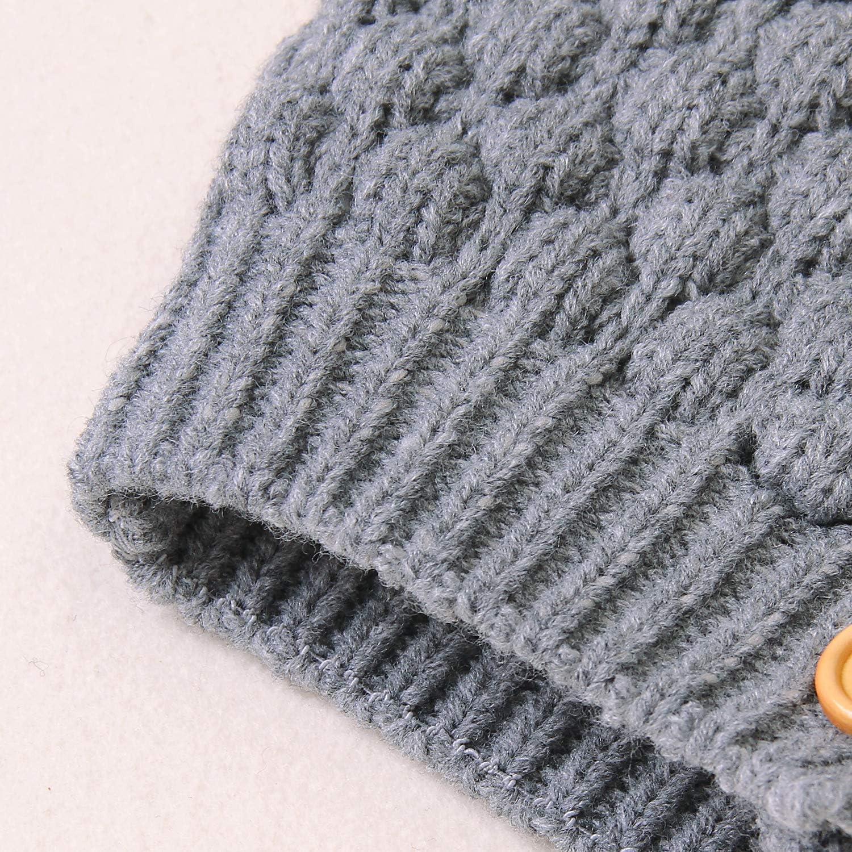 FASBB Baby Boy Girl Fall Winter Cardigan Knitwear Toddler Knitted Warm Coat Jacket Outwear Long Sleeve 3D Ear Coats