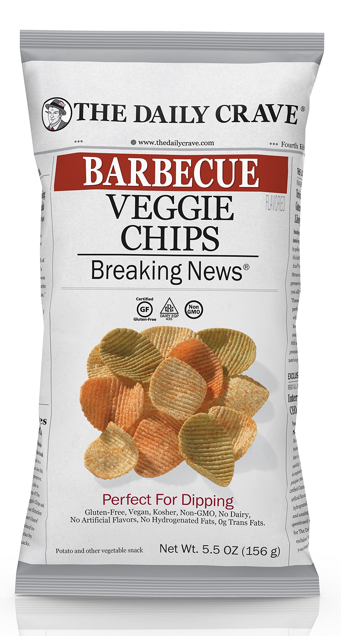 The Daily Crave Barbecue Veggie Chips, Barbecue, 5.5 Ounce (Pack of 8)