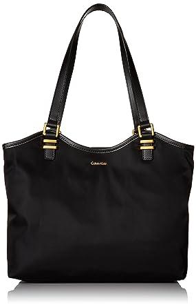 Calvin Klein Nylon North/South Tote (Navy) Tote Handbags bO15ap5g