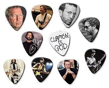 Eric Clapton Classic Set de 10 púas de guitarra eléctrica o acústica: Amazon.es: Instrumentos musicales