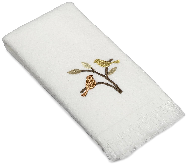 White 19491WHT Avanti Linens Friendly Gathering Bath Towel